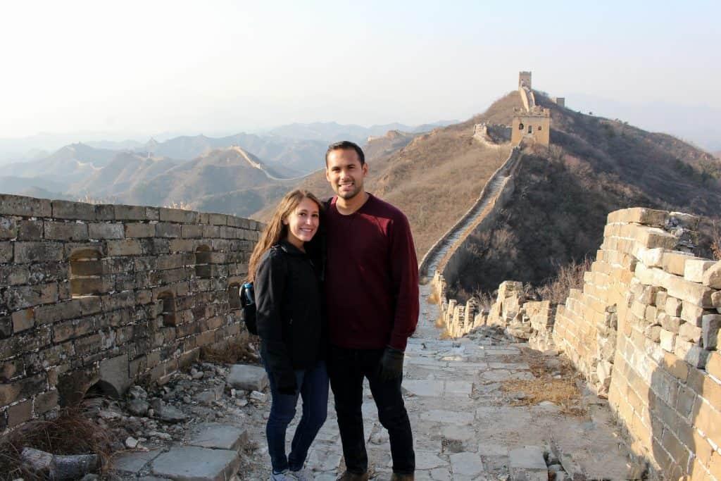 Us at Great Wall of China