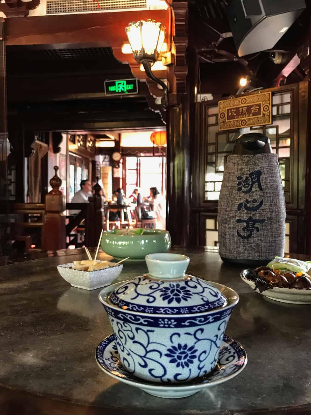 Huxinting Teahouse Inside