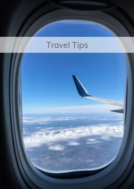 Travel Tips Menu