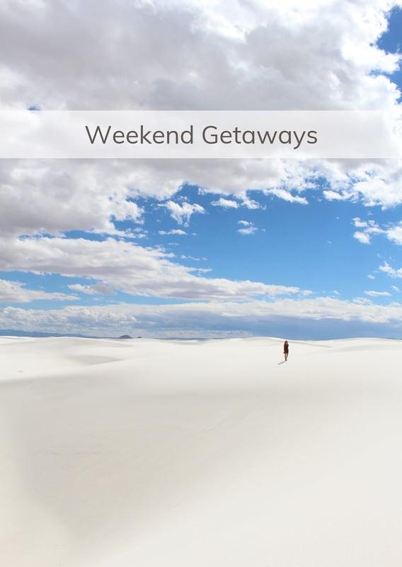 Weekend Getaways Menu