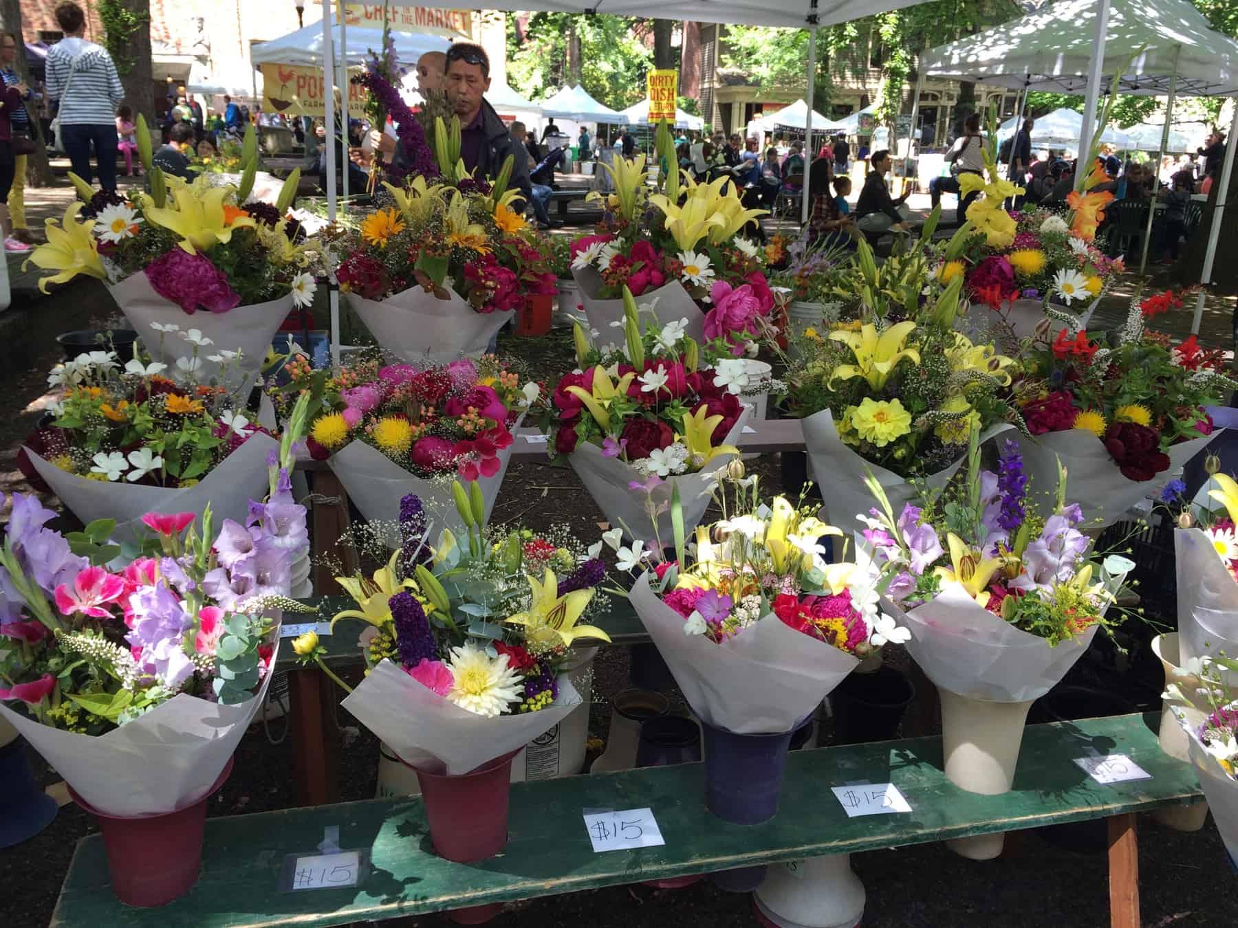 Portland Farmers Market Flowers