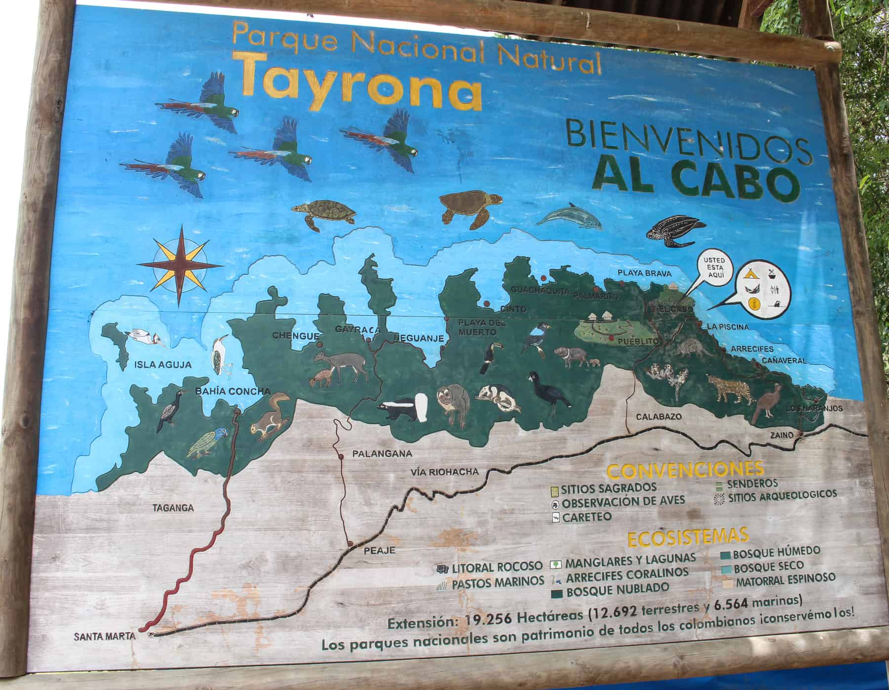 Tayona National Park Overall Map