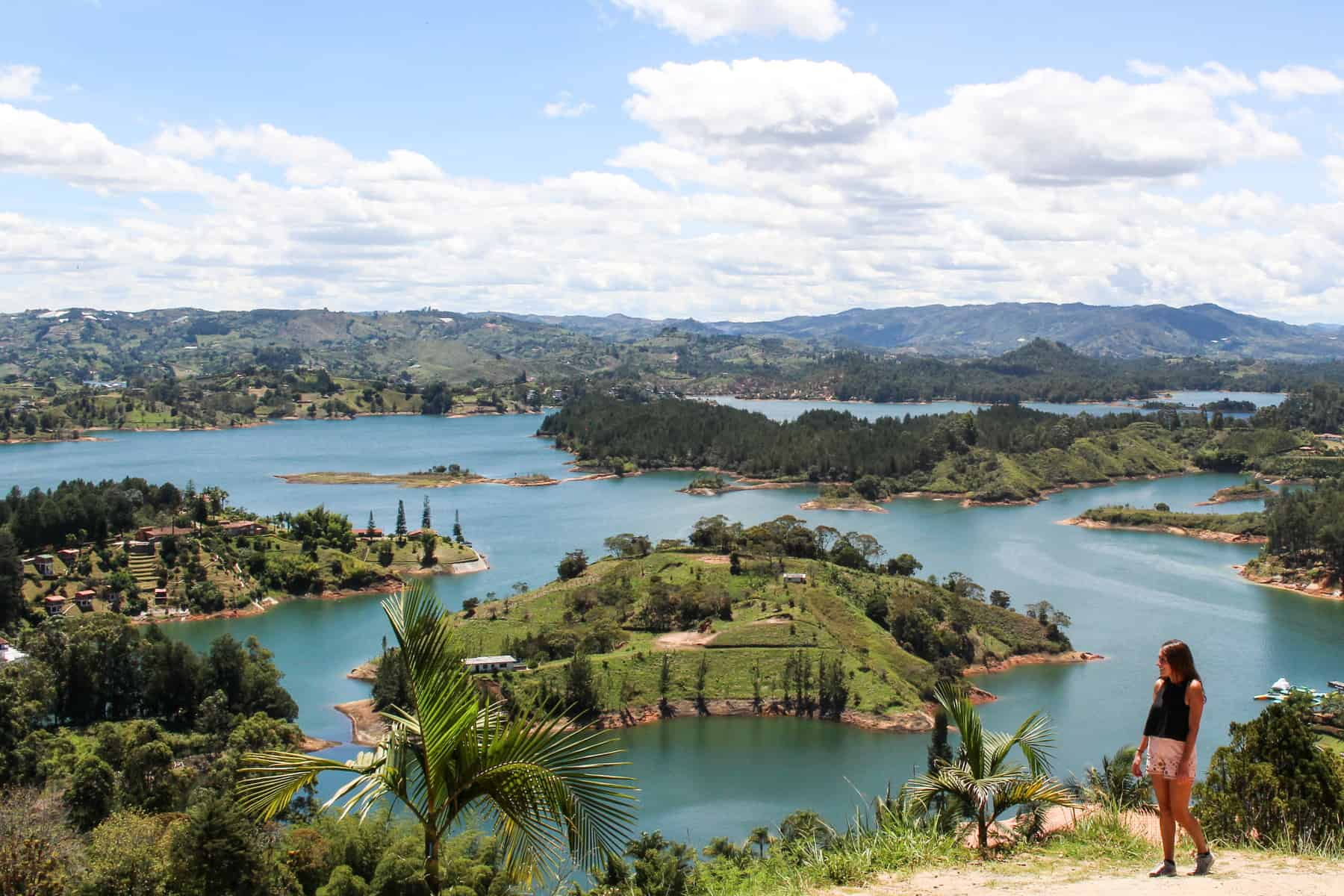 View of Guatape Lake from Hike