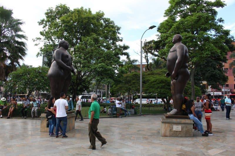 Plaza Botero Bronze Sculptures