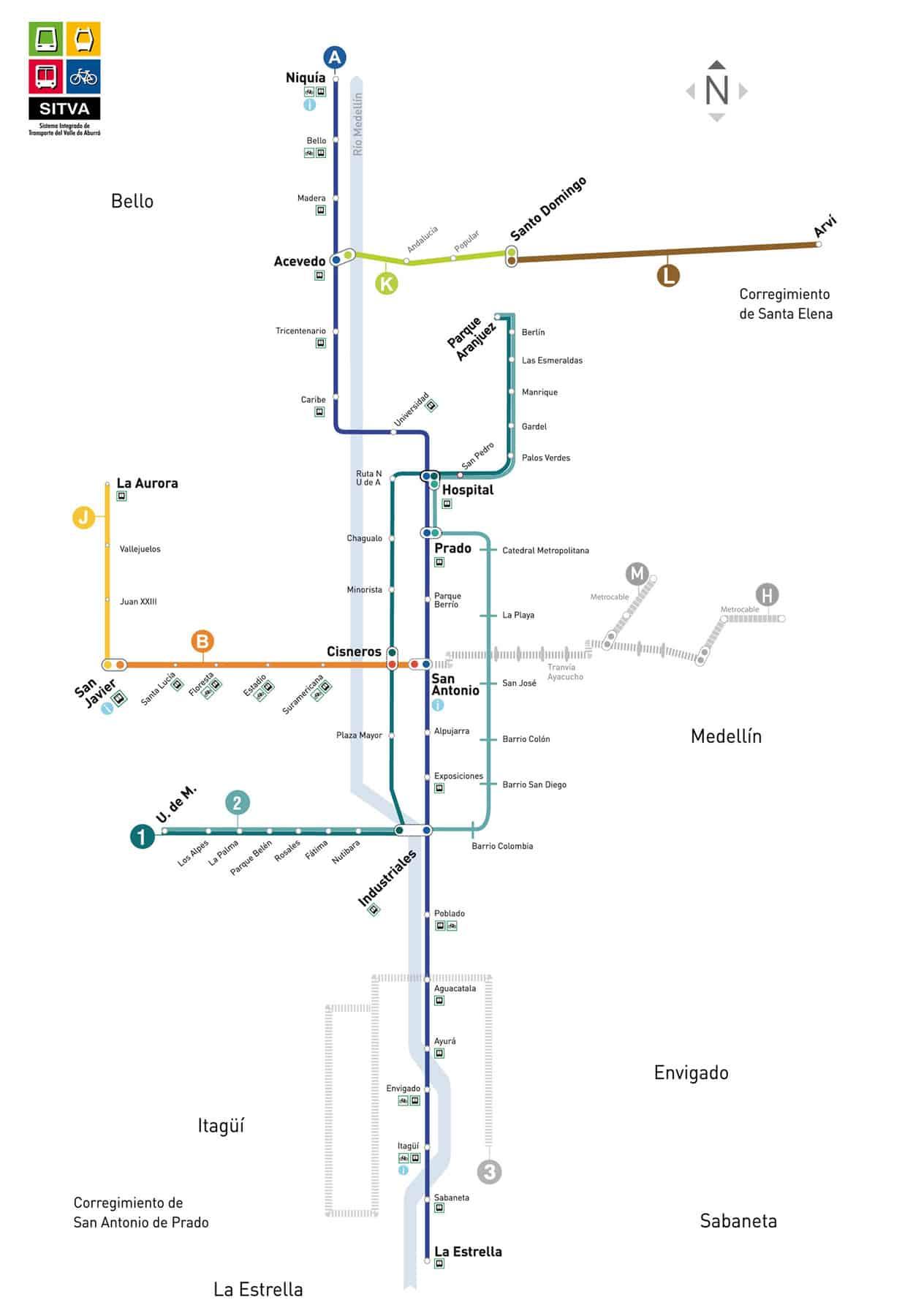 Medellin-Metro-map