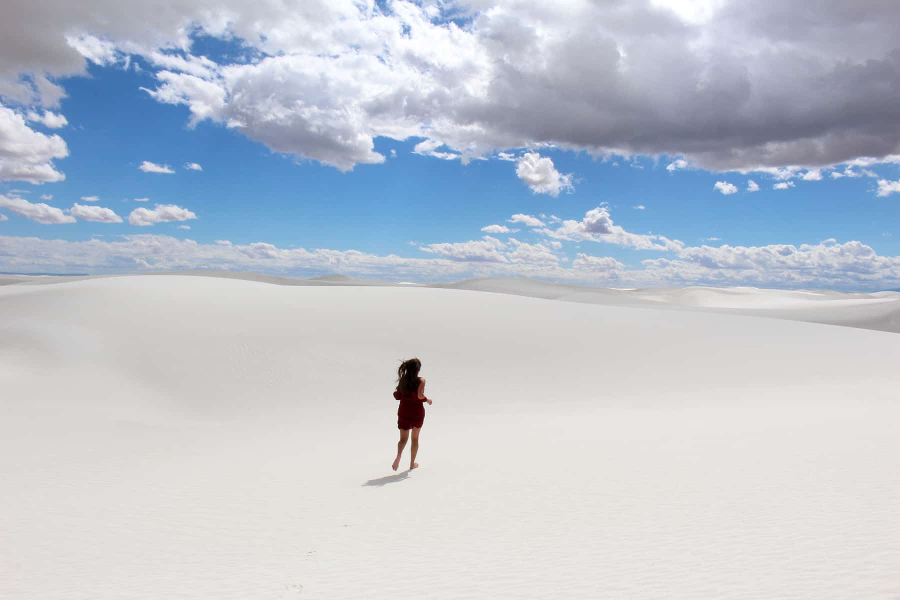 Running at White Sands National Monument