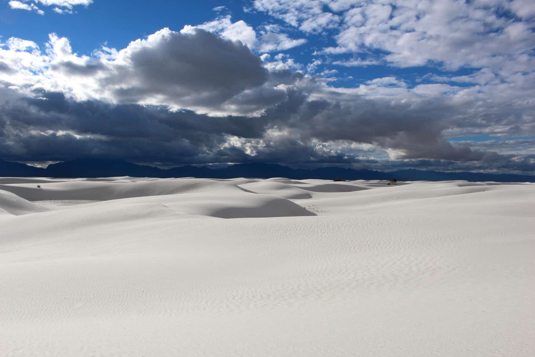 White Sands National Monument with Clouds