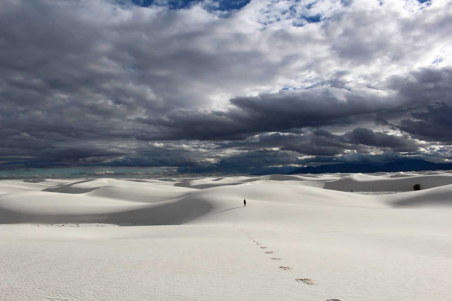 White Sands National Monument with a Storm