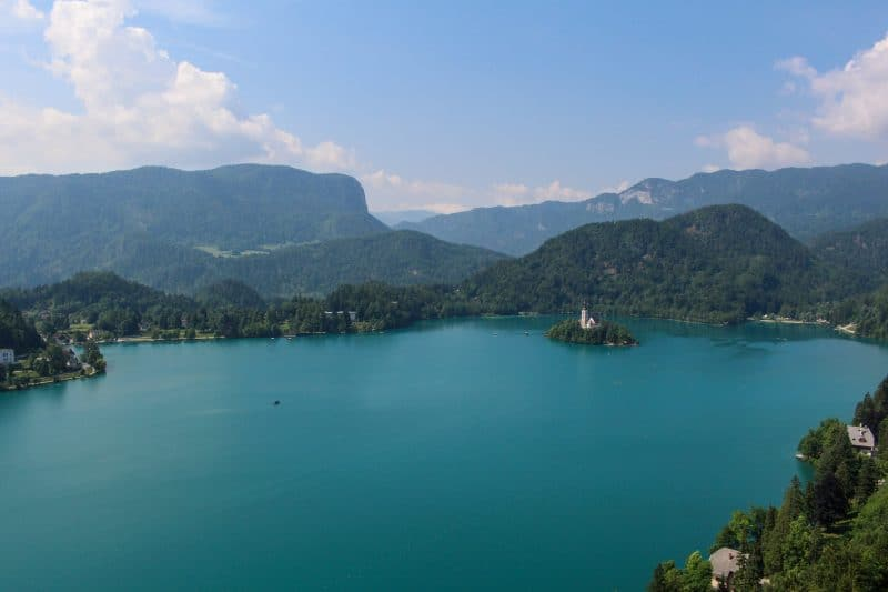 Lake Bled View From Bled Castle