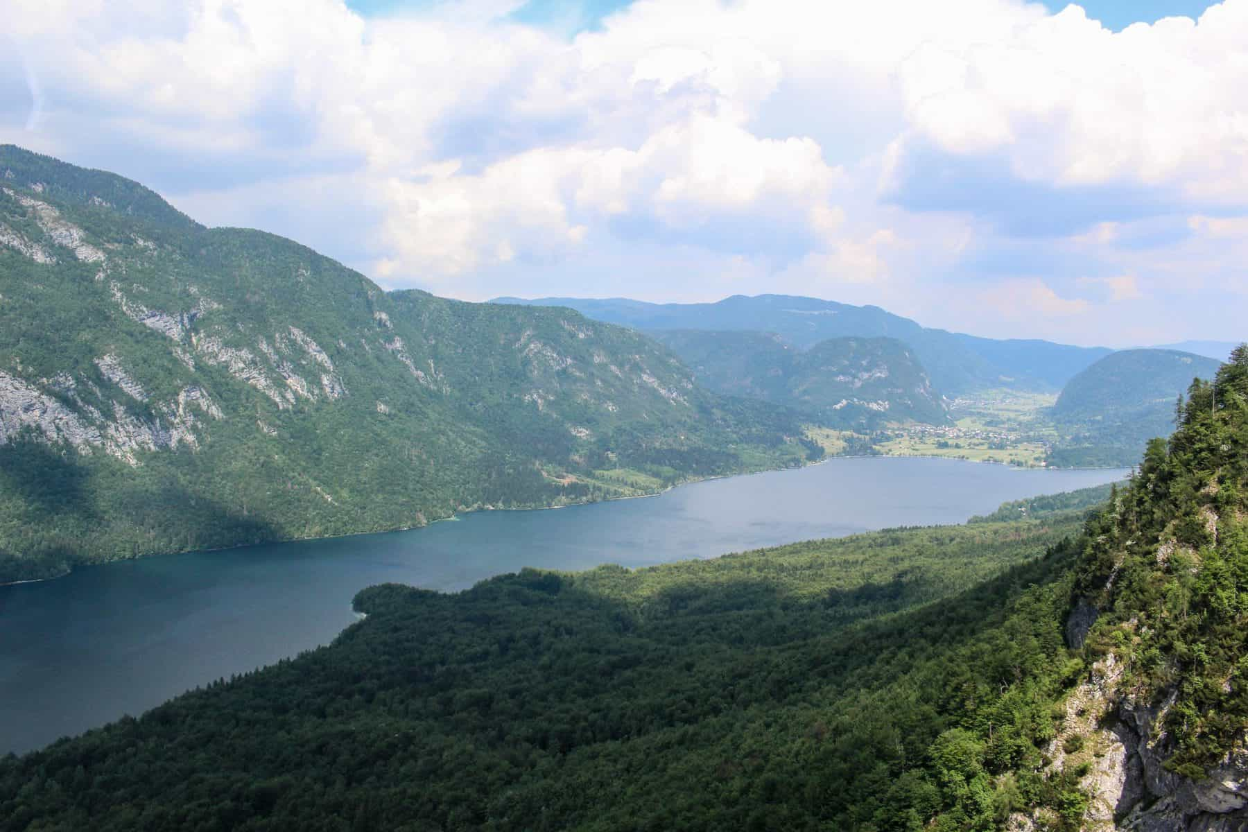 Lake Bohinj View From Cable Car Vogel Mountain