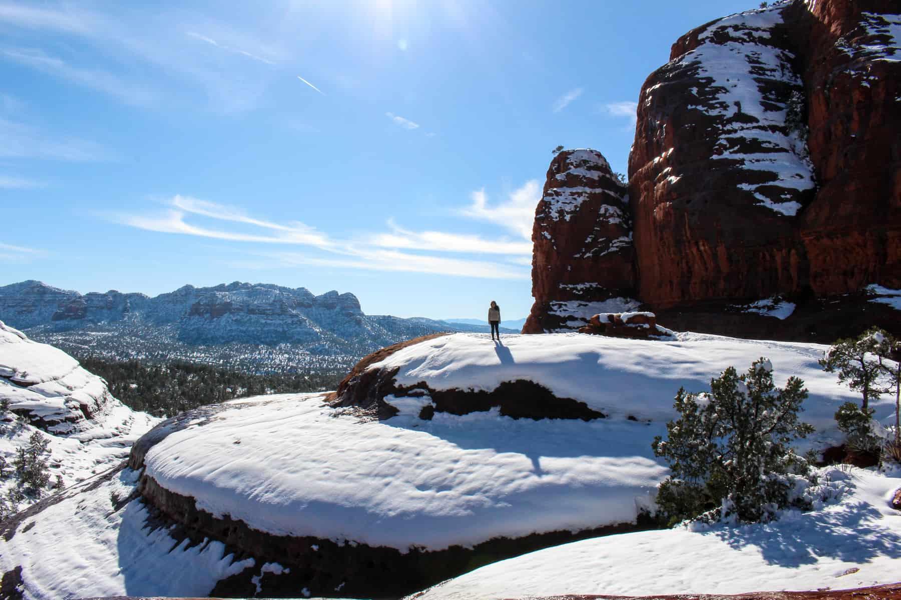 Broken Arrow Trail with Snow