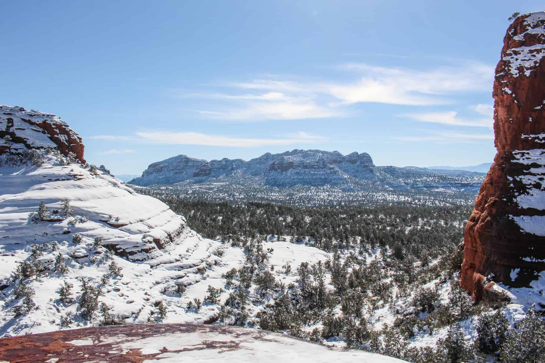 Chicken Point Sedona with Snow