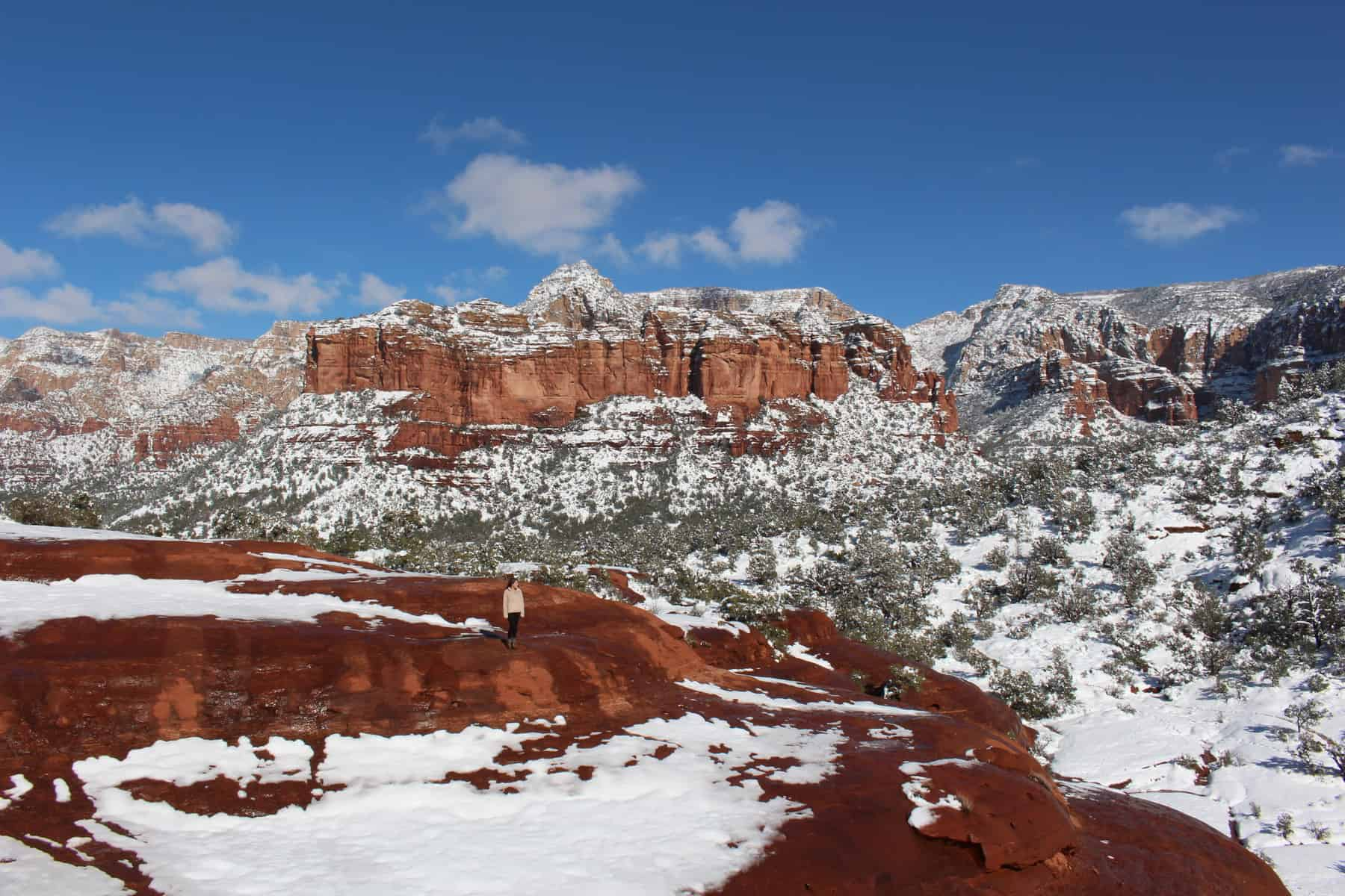 Broken Arrow Trail with Snow in Sedona
